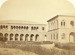 The offices of the Indo European Telegraph Department, Kurrachee [Karachi]. Front view of the Right wing.